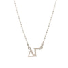 Dogeared Silver Letter Necklace - Delta Gamma