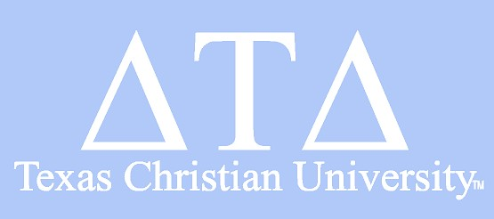White TCU Car Decal - Delta Tau Delta