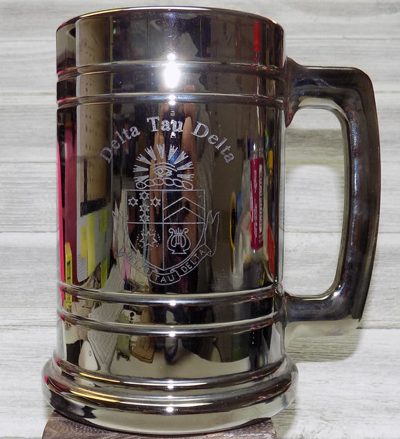 Metallic Coated Glass Stein - Delta Tau Delta