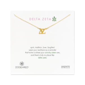 Dogeared Gold Letter Necklace - Delta Zeta