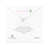 Dogeared Silver Letter Necklace - Delta Zeta