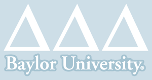 Delta Delta Delta / Baylor University - Car Decal
