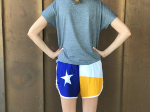 Texas Flag Sorority Shorts - Delta Delta Delta