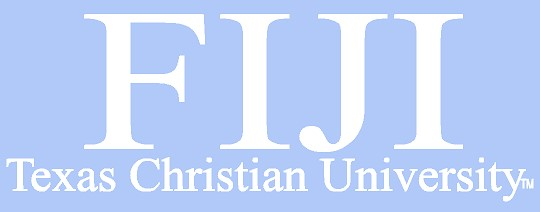 White TCU Car Decal - Fiji