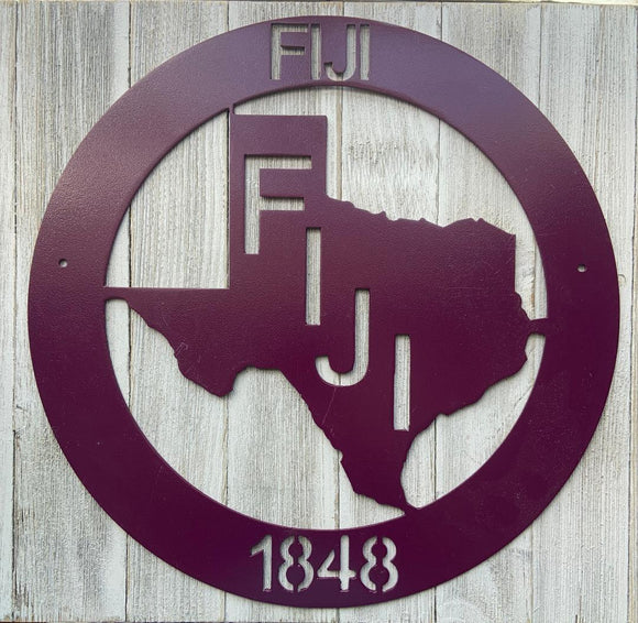 Metal Texas Wall Decor - Fiji