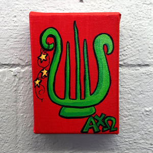 Mascot Painted Canvas - Alpha Chi Omega