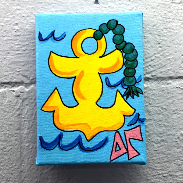 Mascot Painted Canvas - Delta Gamma