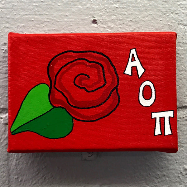 Mascot Painted Canvas - Alpha Omicron Pi