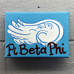 Mascot Painted Canvas - Pi Beta Phi