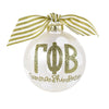Gold and White Ornament - Gamma Phi Beta