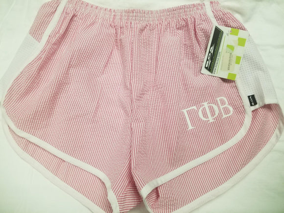 Striped Seersucker shorts - Gamma Phi Beta