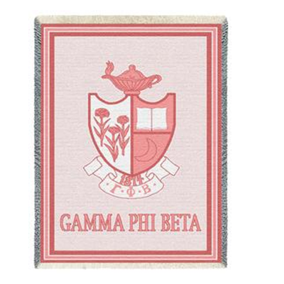 Limited Edition Afghan Blanket - Gamma Phi Beta