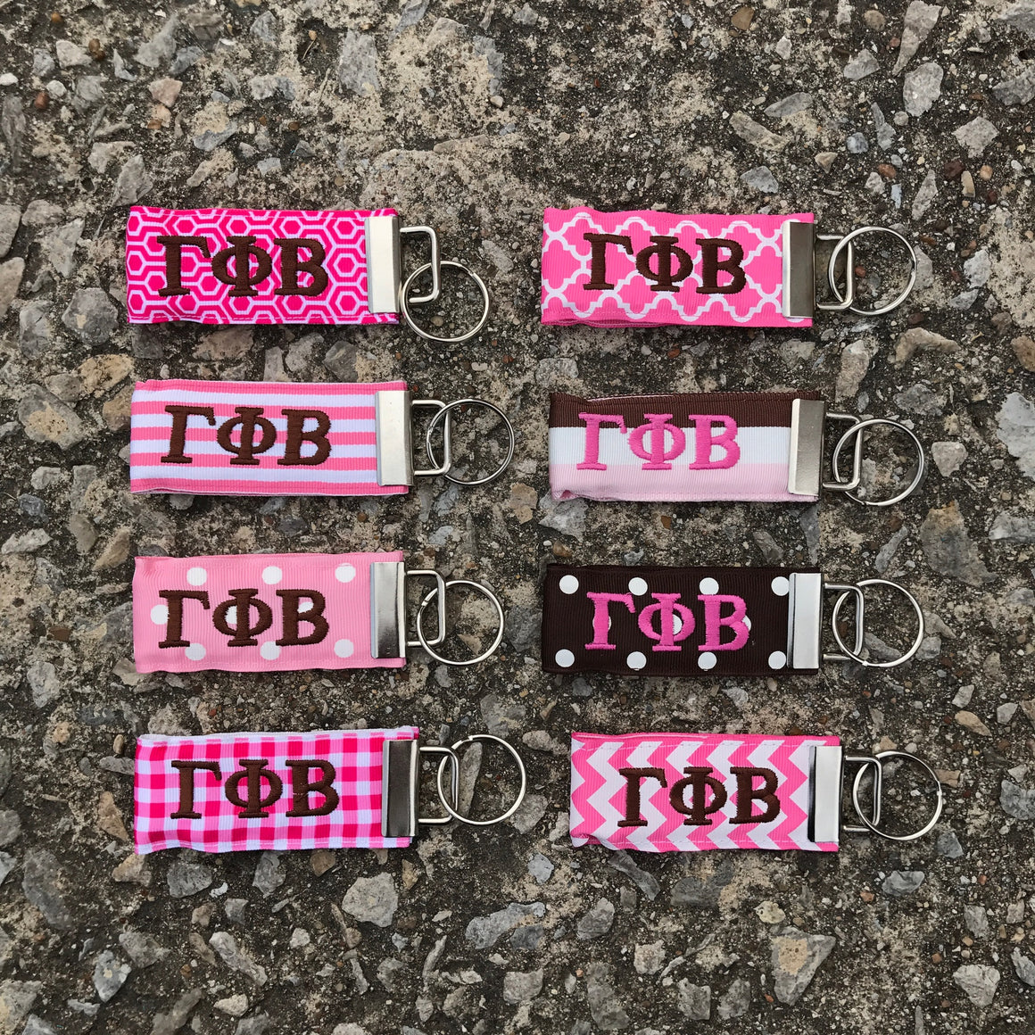 Ribbon Key Fob - Gamma Phi Beta