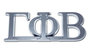 Chrome Auto Emblem - Gamma Phi Beta