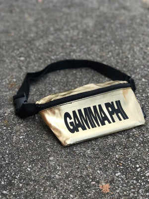 Gold Fanny Pack - Gamma Phi Beta