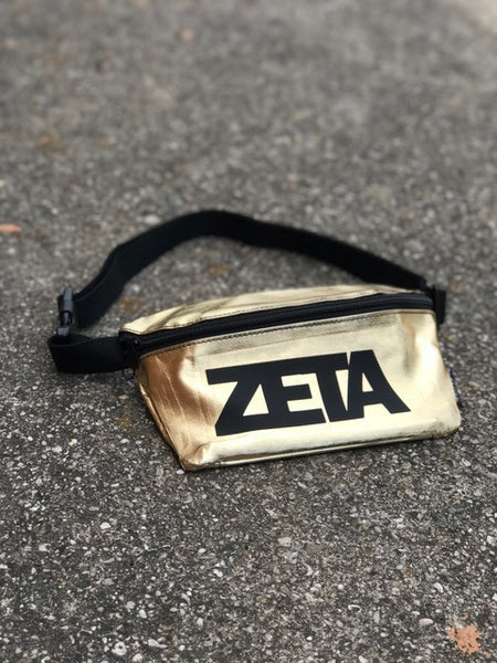 Gold Fanny Pack - Zeta Tau Alpha