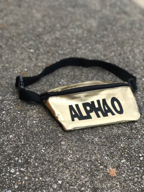 Gold Fanny Pack - Alpha Omicron Pi