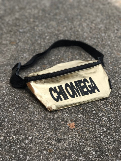 Gold Fanny Pack - Chi Omega