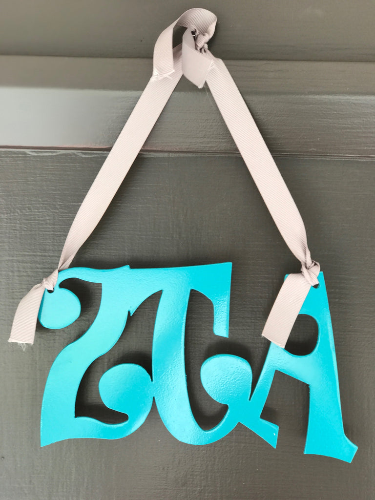 Hanging Metal Greek Letters - Zeta Tau Alpha