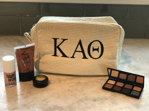 Seersucker Makeup Bag - Kappa Alpha Theta