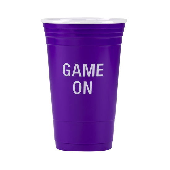 Game On Purple Party Cup