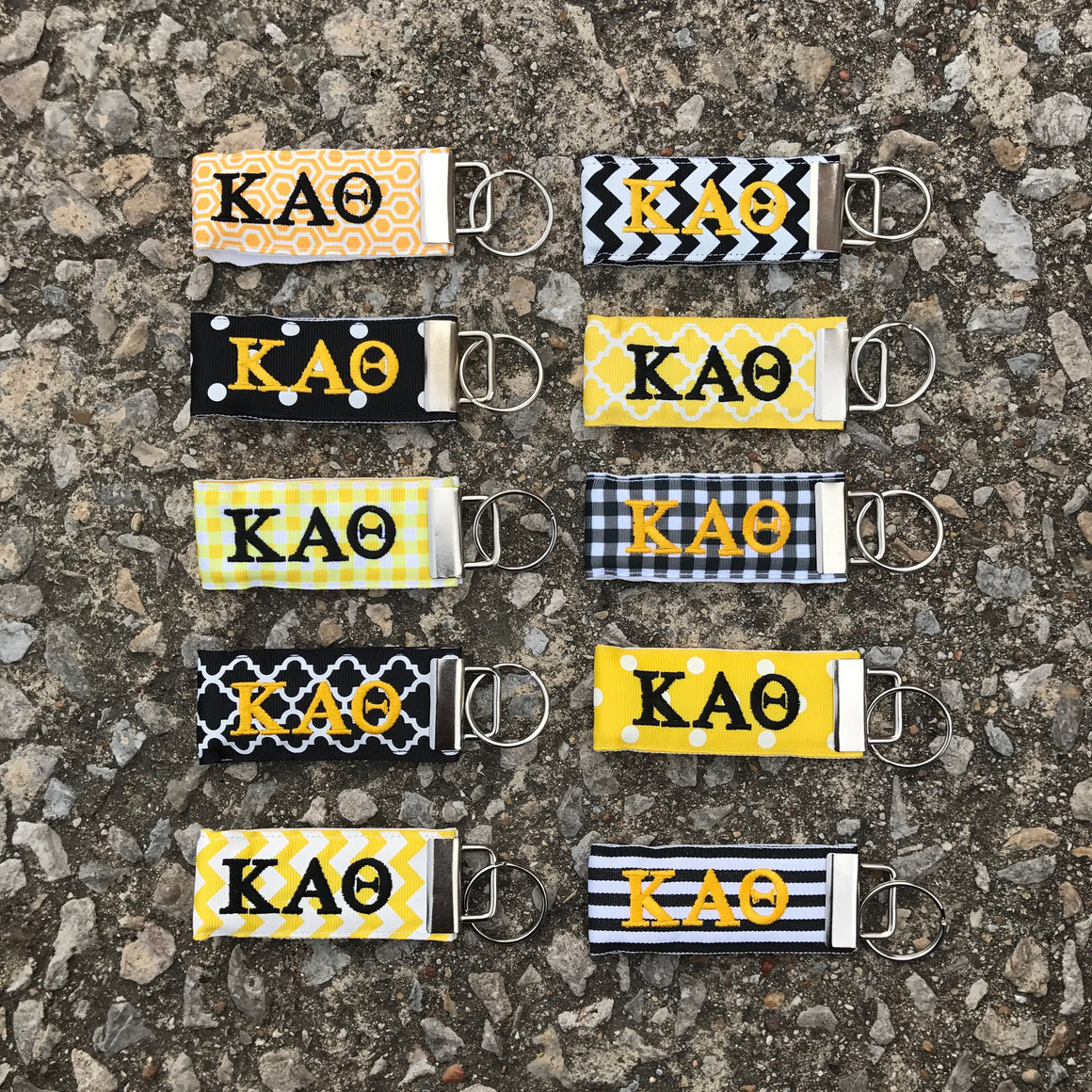 Ribbon Key Fob - Kappa Alpha Theta