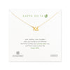 Dogeared Gold Letter Necklace - Kappa Delta