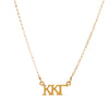 Dogeared Gold Letter Necklace - Kappa Kappa Gamma