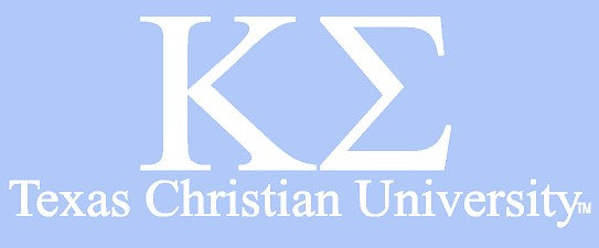 White TCU Car Decal - Kappa Sigma