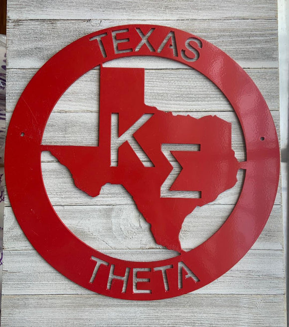 Metal Texas Wall Decor - Kappa Sigma