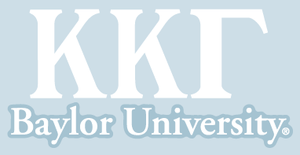 Kappa Kappa Gamma / Baylor University - Car Decal