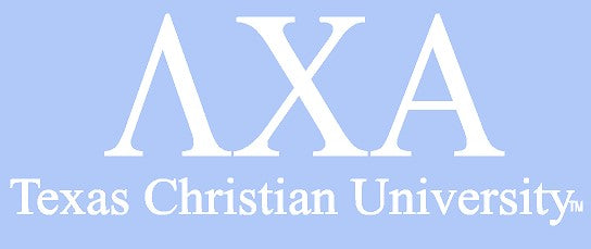 White TCU Car Decal - Lambda Chi Alpha