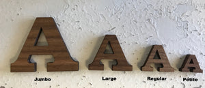 Regular Wood Letters