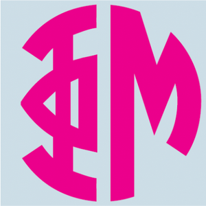 Color Monogram Decal - Phi Mu