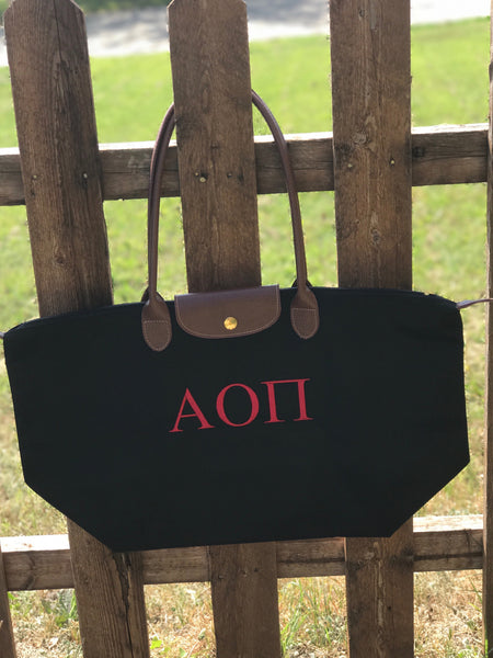 Nylon Tote Bag - Alpha Omicron Pi