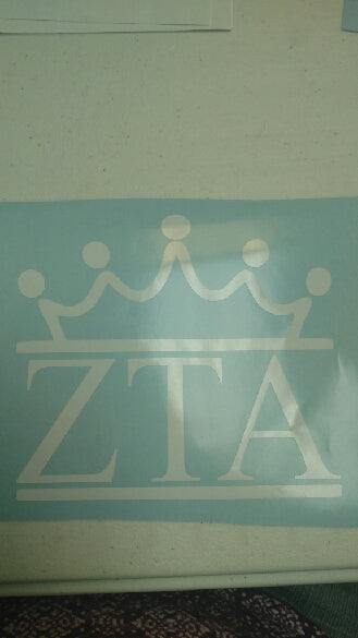 Crown Sticker Zeta Tau Alpha - TCU