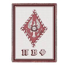Limited Edition Afghan Blanket - Pi Beta Phi