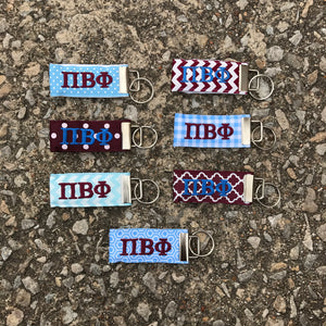 Ribbon Key Fob - Pi Beta Phi