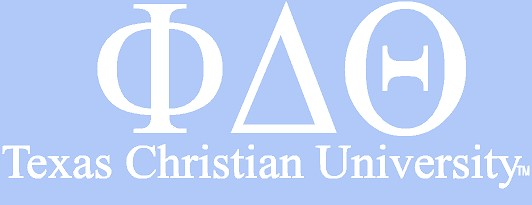 White TCU Car Decal - Phi Delta Theta