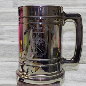 Metallic Coated Glass Stein - Phi Delta Theta
