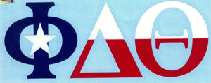 Texas Flag Car Decal - Phi Delta Theta