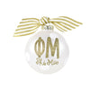 Gold and White Ornament - Phi Mu