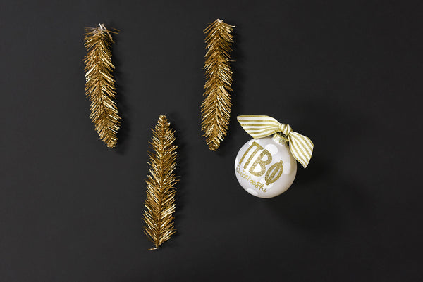 Gold and White Ornament - Pi Beta Phi