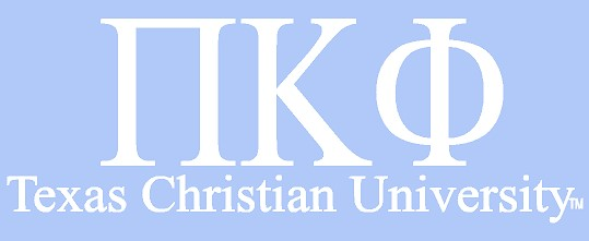 White TCU Car Decal - Pi Kappa Phi