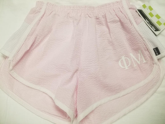 Striped Seersucker shorts - Phi Mu