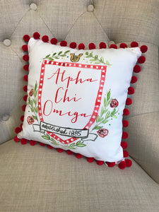 Pom Pillow - Alpha Chi Omega