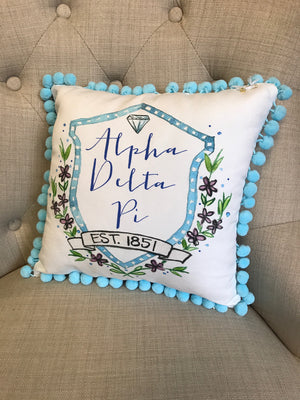 Pom Pillow - Alpha Delta Pi
