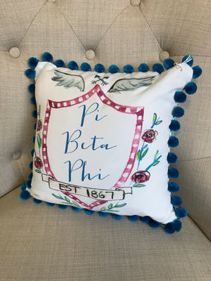 Pom Pillow - Pi Beta Phi