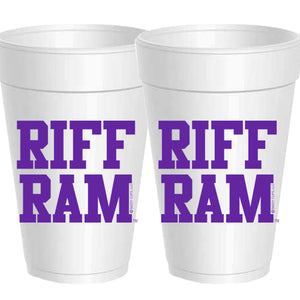 TCU Game Day Styrofoam Cup Collection