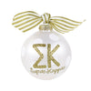 Gold and White Ornament - Sigma Kappa
